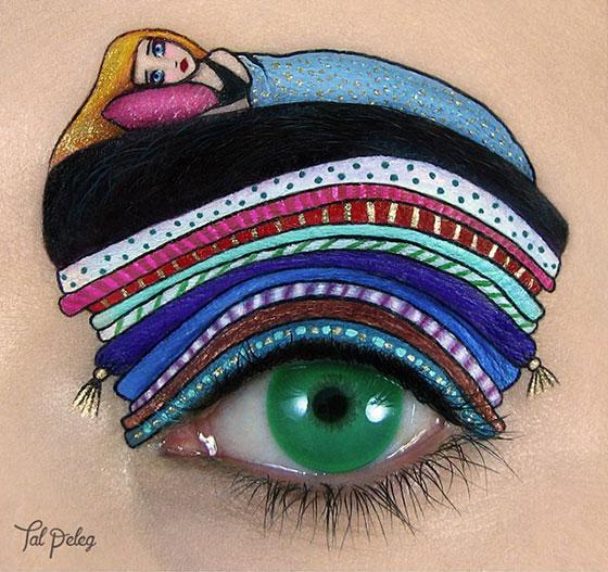 Tal peleg - eye art - księżniczka na ziarnku grochu