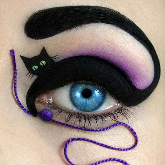 Tal peleg - eye art - kot