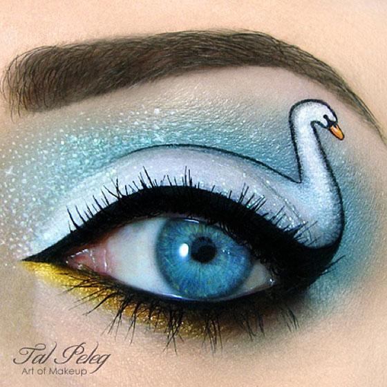 Tal peleg - eye art - łabędź