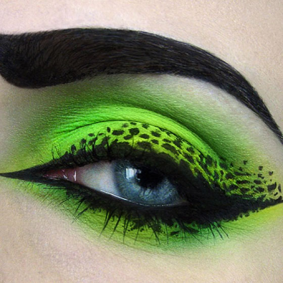 Tal peleg - eye art - zielony makijaż oczu