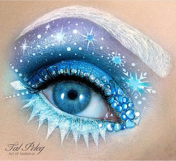 Tal peleg - eye art - makijaż oczu na zimę
