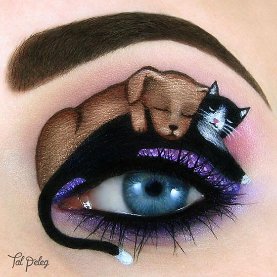 Tal peleg - eye art - pies i kot
