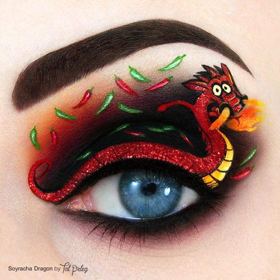 Tal peleg - eye art - smok