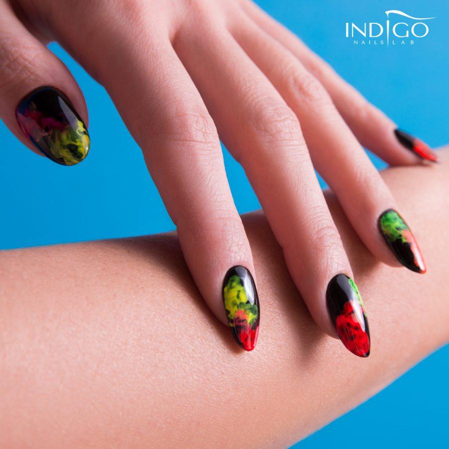 Indigo - smoke powder red