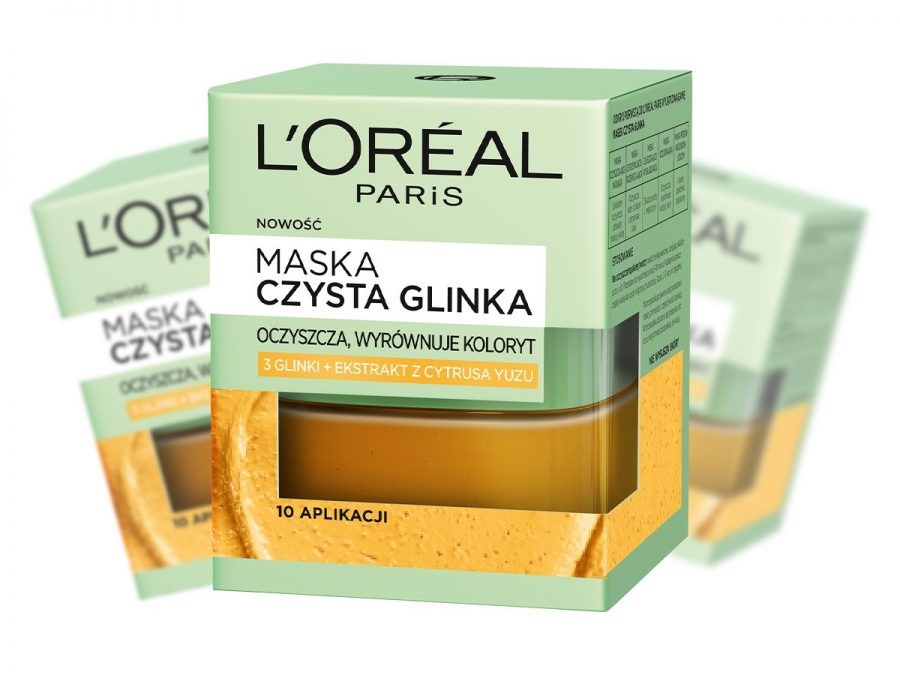 loreal maska czysta glinka