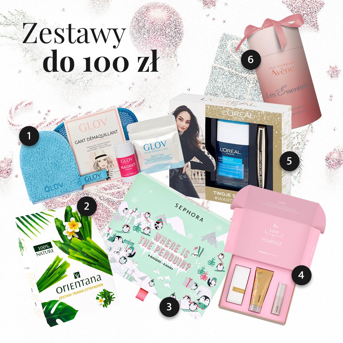 Zestawy kosmetyków na prezent do 100 złotych