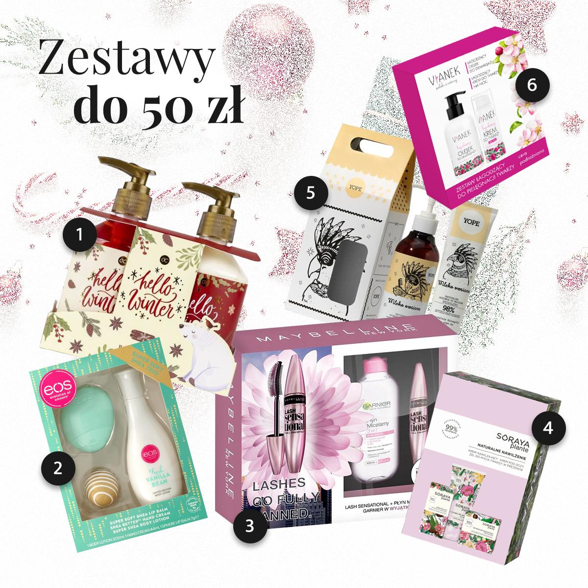 Zestawy kosmetyków na prezent do 50 złotych