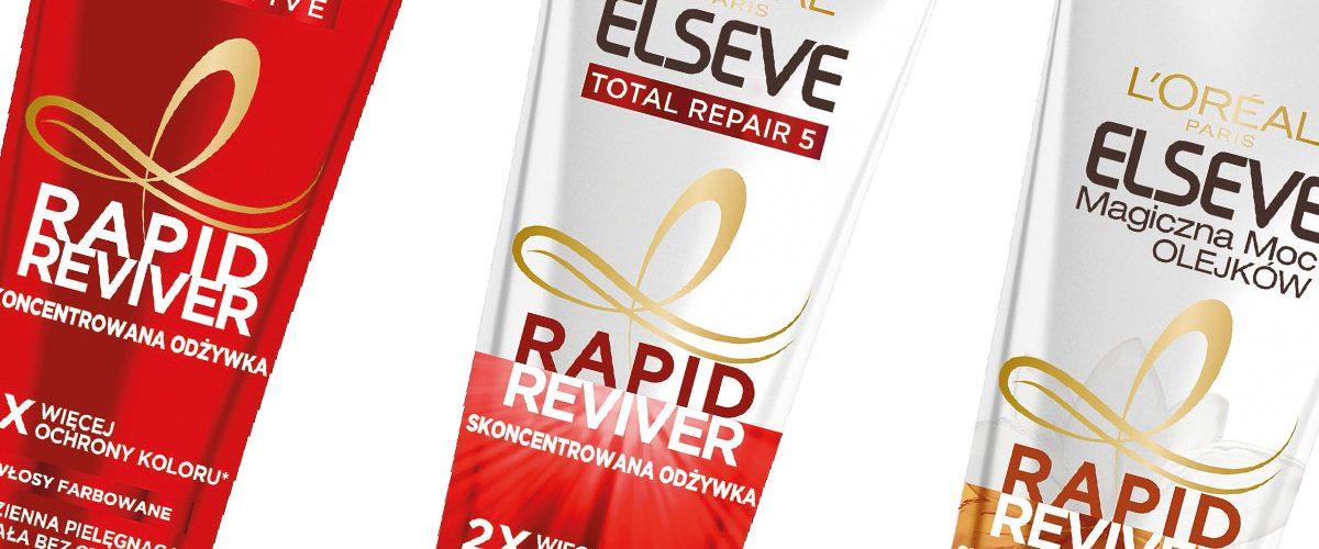 L'Oréal Paris Elseve Rapid Reviver – nowa linia odżywek do włosów