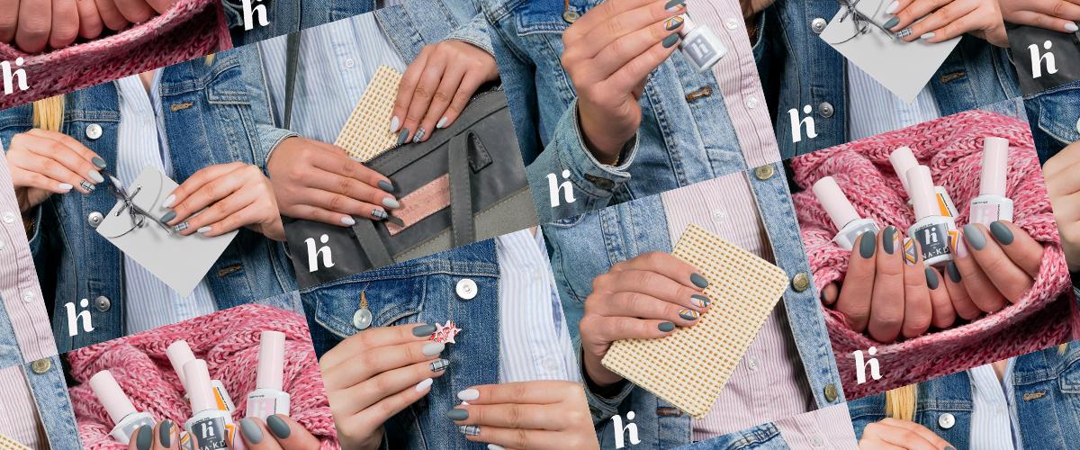 Manicure idealny do szkoły i pracy? Postaw na szarość od hi hybrid!
